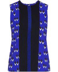 Etro Multi-Print Sleeveless Crepe Top multicolor - Lyst