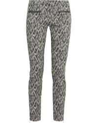 Matthew Williamson Printed Stretch Cotton-blend Skinny Pants - Lyst