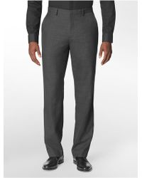 Calvin Klein Straight Fit Plaid Suit Pants - Lyst