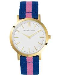 Larsson & Jennings Benadotte Kulor Gold-Plated And Nylon Watch - For Women - Blue