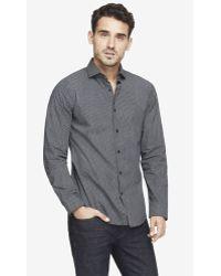 Express Extra Slim Micro Print Dress Shirt - Lyst