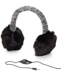 Calvin Klein - Faux Fur-trimmed Headphone Earmuffs - Lyst