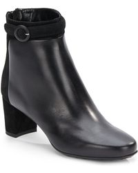 Aquatalia by Marvin K Take Out Suede Trimmed Leather Ankle Boot - Lyst