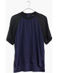 Madewell Silk Front Row Tee in Colorblock - Lyst
