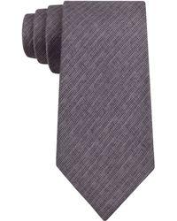 Calvin Klein Black Wash Denim Slim Tie - Lyst