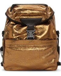 Alexander McQueen Gold Foiled Leather and Spine Embossed Backpack - Lyst