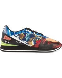 Kenzo Collage Print Sneakers - Lyst