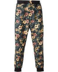 Y-3 Floral Print Track Pants - Lyst