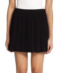 Marc By Marc Jacobs Pleated Crepe Mini Skirt - Lyst