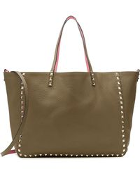 Valentino Reversible Rockstud Leather Shopper - Lyst