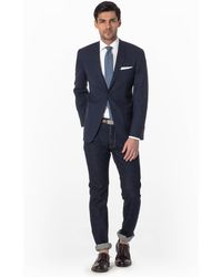 Todd Snyder Mayfair Fit Sportcoat In Dark Blue Check blue - Lyst