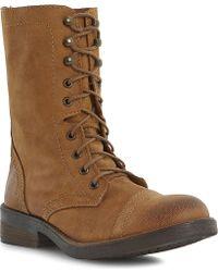 Steve Madden Monch-C Sm Calf-Leather Biker Boots - For Women - Lyst