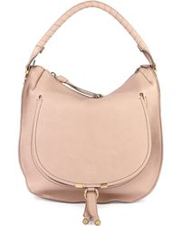 Chloé Marcie Leather Hobo Bag - Lyst