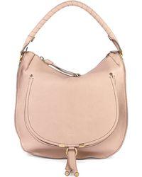 Chloé Marcie Leather Hobo Bag - Lyst