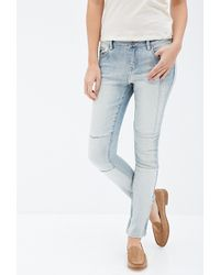Forever 21 Patched Straight-Leg Jeans - Lyst