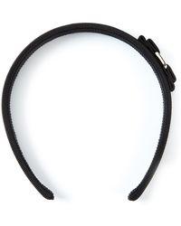 Ferragamo 'Vara' Bow Headband black - Lyst