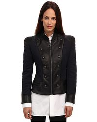 Pierre Balmain Quilted Leather Jacket - Lyst