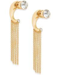 Noir Jewelry Eavesdrop Two-in-one Fringe Earrings - Lyst