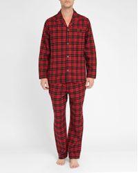 Polo Ralph Lauren   Red/black Checked Flannel Pyjamas   Lyst