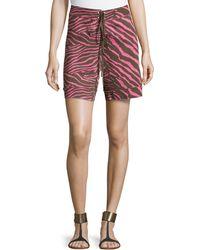 M Missoni Knit Animal-Print Shorts - Lyst