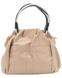 L.A.M.B. Nude Leather 'Gaze' Hobo Bag beige - Lyst