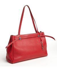 Hermes Preowned Cabas Fjore Red Leather Tote - Lyst