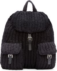 Acne Studios - Black Wool Backy Chunky Backpack - Lyst