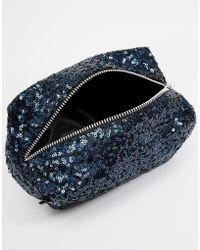 Jaded London - Black Holographic Sequin Make-Up Bag - Lyst