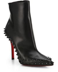 Christian Louboutin Willetta Studded Booties - Lyst