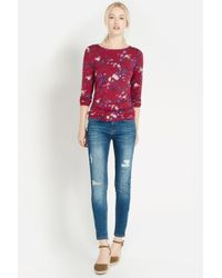Oasis Shadow Floral Print T Shirt - Lyst