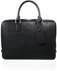Giorgio Armani | Saffiano Leather Briefcase | Lyst