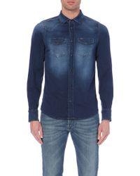 Diesel Sonora-Ne Denim Shirt - For Men - Lyst