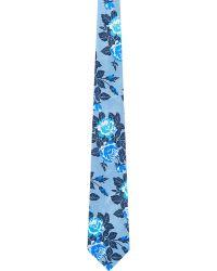 Duchamp Rose-Pattern Satin Neck Tie - Lyst