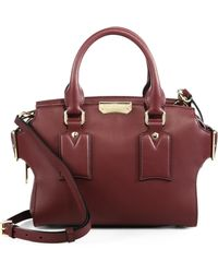 Burberry | Gainsborough Small Leather Satchel | Lyst