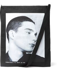 Raf Simons - Isolated Heroes Printed Cotton Tote Bag - Lyst