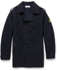 Stone Island Doublefaced Padded Peacoat - Lyst