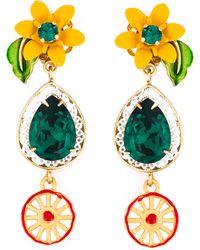 Dolce & Gabbana | Crystal Clip-on Earrings | Lyst