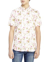 French Connection Positively Peony Woven Shirt - Lyst