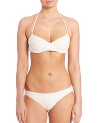Shoshanna | Daisy Halter Bikini Top | Lyst