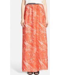 Trouvé Soft Maxi Skirt red - Lyst