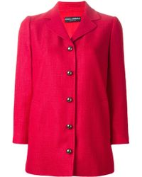 Dolce & Gabbana Short Single Breasted Coat - Lyst