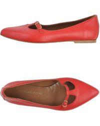 Pierre Darre' Red Ballet Flats - Lyst
