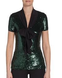Tory Burch Anabelle Sequined Top - Lyst