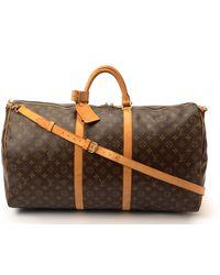 Louis Vuitton Monogram Keepall 60 Bandou Travel Bag - Lyst