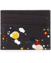 Maison Martin Margiela Paint-Splatter Leather Card Case - Lyst