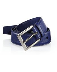 Prada Leather Belt in Brown (natural) | Lyst