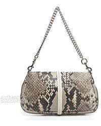 Gucci Pre-owned Stone Python Croisette Evening Bag - Lyst