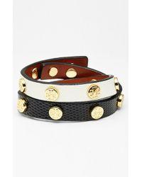 Tory Burch Logo Stud Double Wrap Bracelet - Lyst