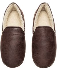 H&M Pile-lined Slippers - Brown
