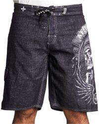 a6790ef68e Affliction - Thunderfoot Boardshorts - Lyst